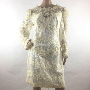 Michaelangelo Intricate Lace Beaded Wedding Dress